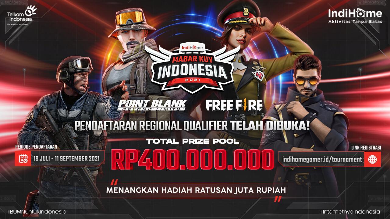 Dukung Perkembangan Komunitas Gamer, Telkom Persembahkan Kompetisi IndiHome MabarKuy Indonesia 2021